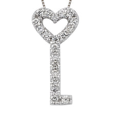 Load image into Gallery viewer, Diamond Key Pendant