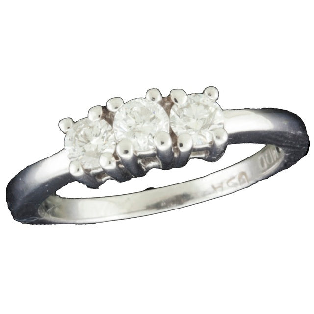 Three Stone Diamond Ring With Equal Size Diamonds