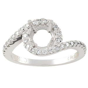 Lady's Round Semi Mount Ring