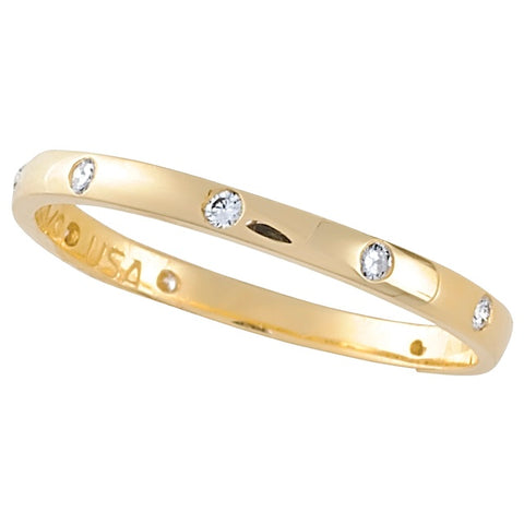 Lady's Diamond Stackable Ring