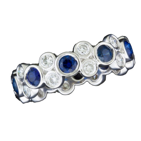 Diamond and Sapphire Stackable Eternity Ring