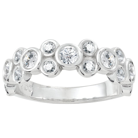Bezel Set Diamond Stackable Band