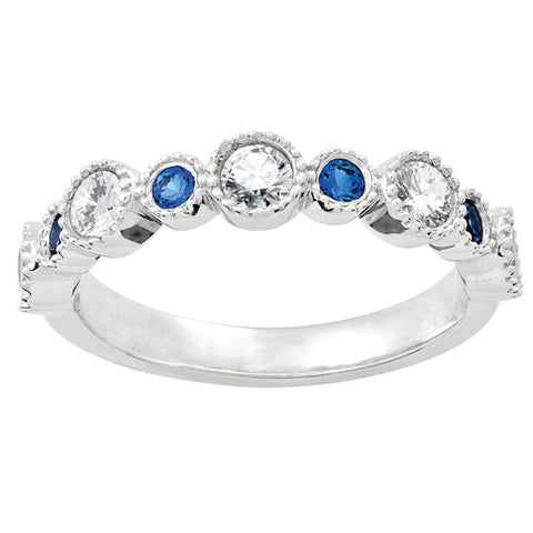 Diamond and Sapphire Stackable Ring
