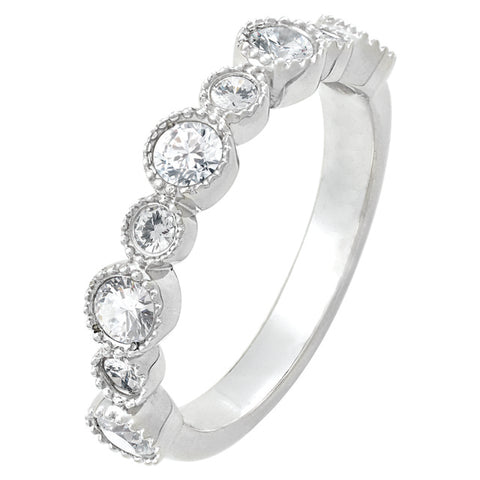 Bezel Set Diamond Stackable Ring