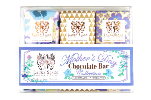 3 Piece Handpainted Chocolate Bars: Mother's Day Collection