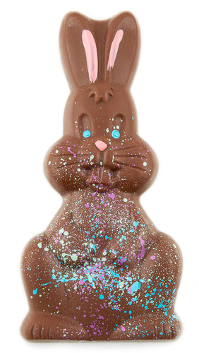 Handpainted Solid Chocolate Bunny