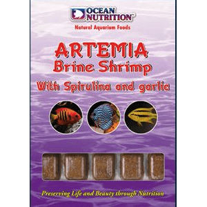 Artemia Brine Shrimp with Spirulina and Garlic 100g