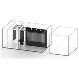 Waterbox Aquariums Product Waterbox - Crystal PENINSULA 5526 Aquarium Complete System