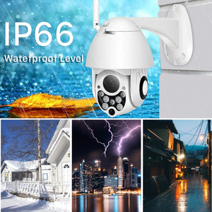 Wireless Security Camera Smart HD Outdoor WiFi IP Cameras with Night Vision - 128G Card Included
