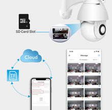 Load image into Gallery viewer, Wireless Security Camera Smart HD Outdoor WiFi IP Cameras with Night Vision - 128G Card Included