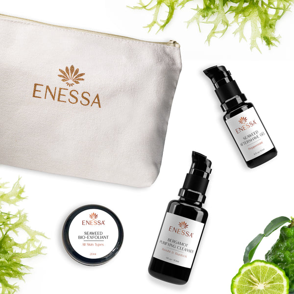 Men's Travel Survival Kit - Bergamot - Enessa Organic Skin Care