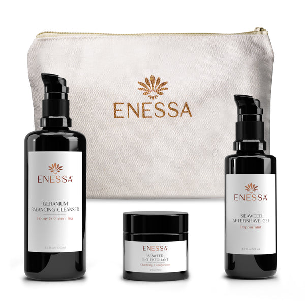 Men's Survival Kit - Geranium - Enessa Organic Skin Care