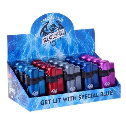 Special Blue Turbo Metal Lighter (20 Count) Display