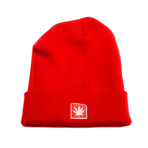 "STONERDAYS 12"" KNIT RED BEANIE"