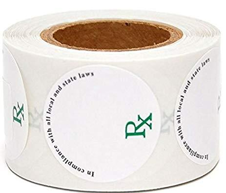 1'' Round Concentrate Label