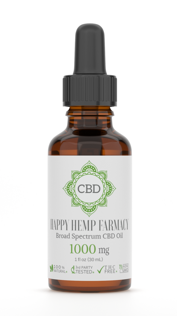 1000MG BROAD SPECTRUM THC FREE CBD OIL 30ML TINCTURE