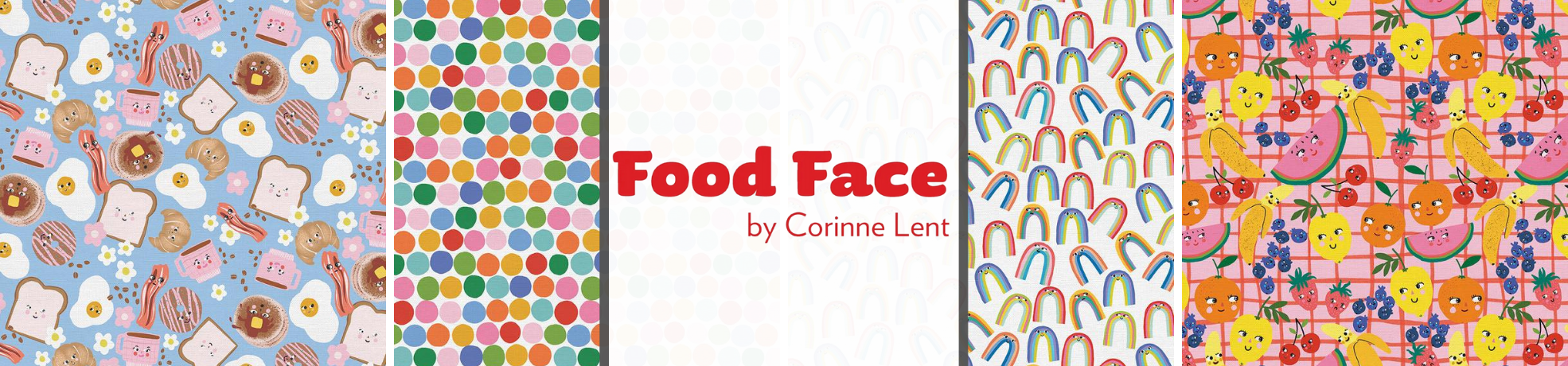 Food Face Fabric Collection