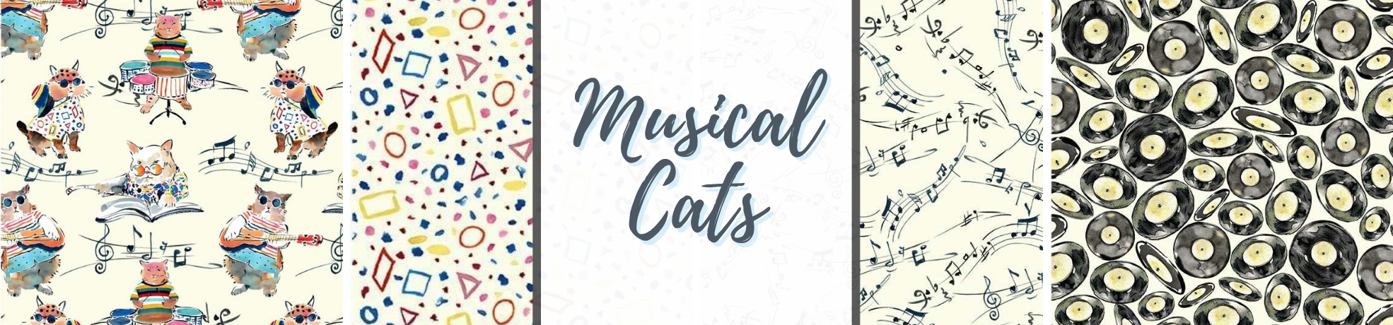 Musical Cats Fabric Collection
