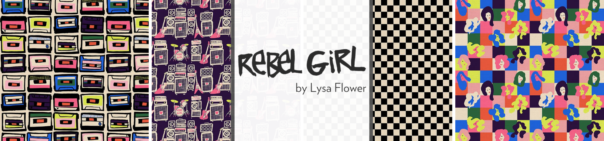 Rebel Girl Fabric Collection