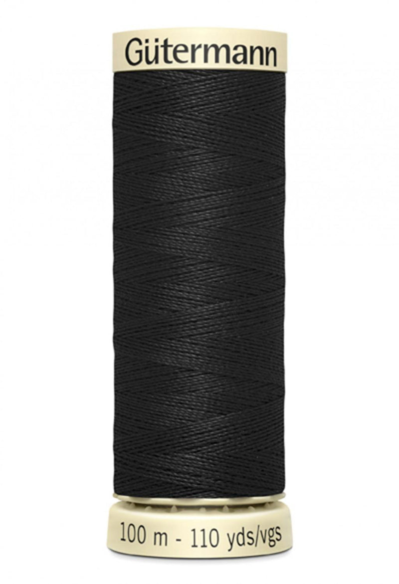 Sew-all Polyester All Purpose Thread 100m/109yds - Black 100M-010