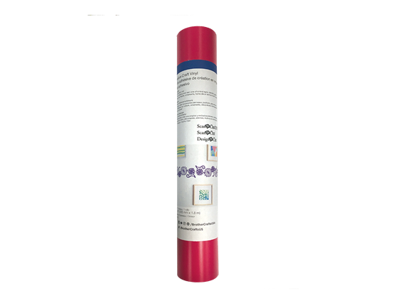 "12""x6 ft - Adhesive Craft Viny l - HOT PINK"