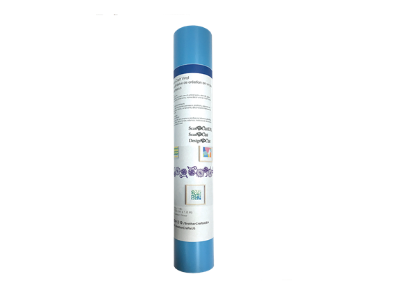 "12""x6 ft - Adhesive Craft Viny l - LIGHT BLUE"