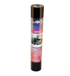 "12""x6 ft - Adhesive Craft Vinyl - BLACK"