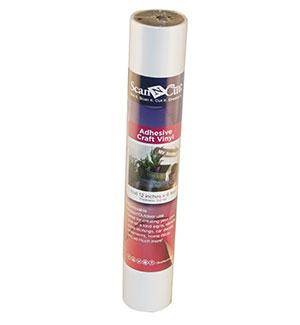 "12""x6 ft - Adhesive Craft Vinyl - WHITE"