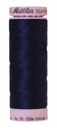 Silk-Finish 50wt Solid Cotton Thread 164yd/150M Dark Indigo