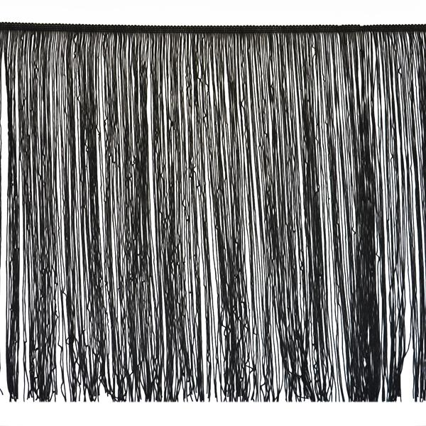 "18"" Chainette Fringe Trim Black IR6642BK"