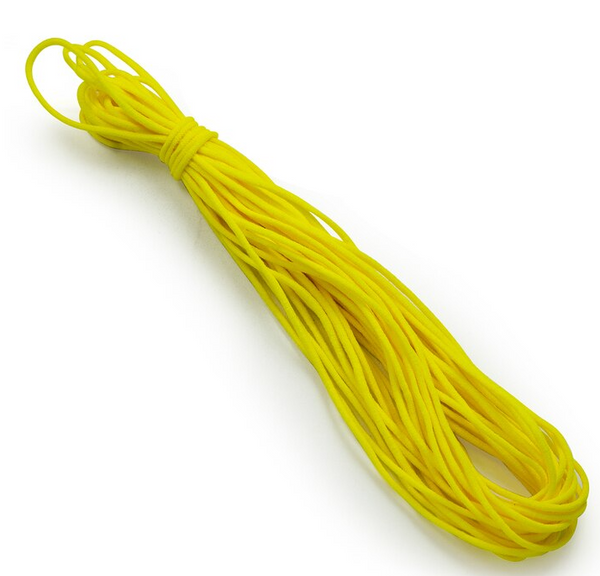 "1/8"" Soft Knit Elastic Cord 10yd Pk-Yellow EL106YL"