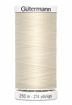 Sew-all Polyester All Purpose Thread 250m/273yds - Eggshell 250M-022