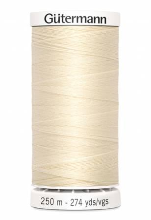 Sew-all Polyester All Purpose Thread 250m/273yds - Ivory 250M-800