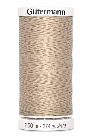 Sew-all Polyester All Purpose Thread 250m/273yds - Sand 250M-505