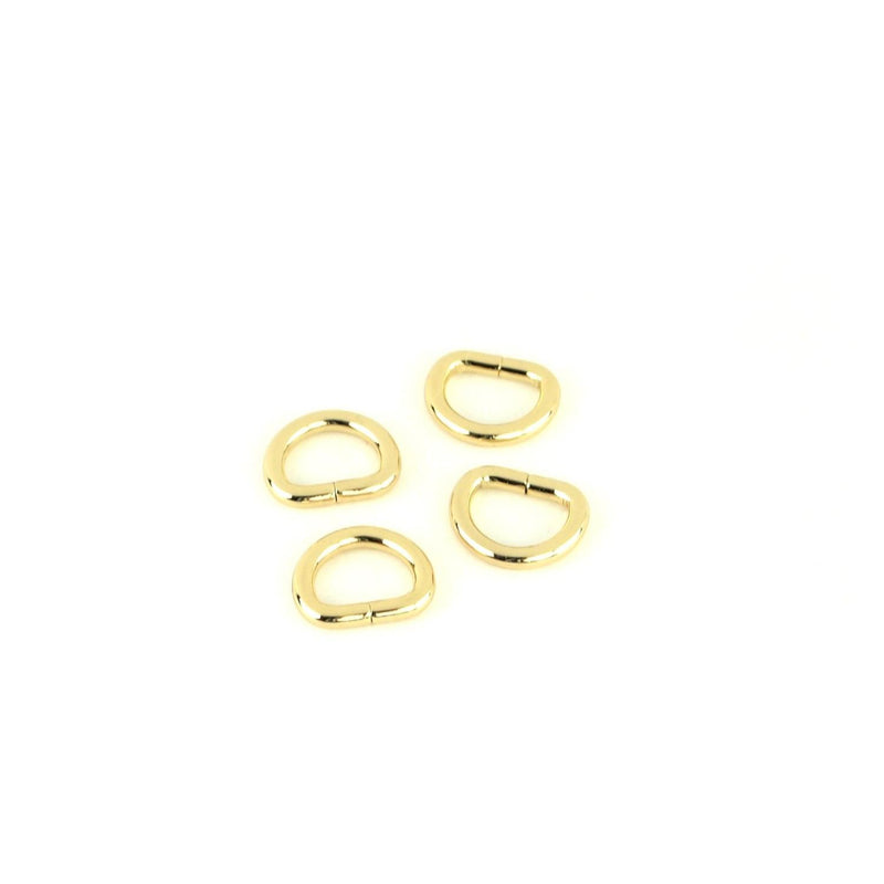 "Gold D-Rings 1/2"" 4pcs STS104G"