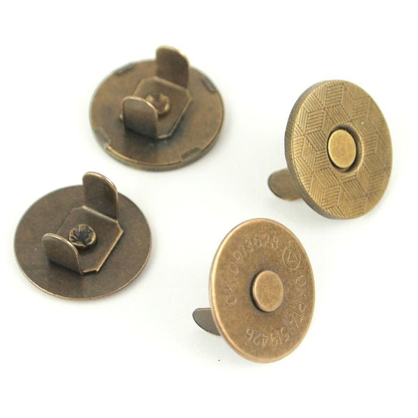 "Thin Extra Strong Magnetic Snaps 1/2"" Antique 2pcs STS175A"