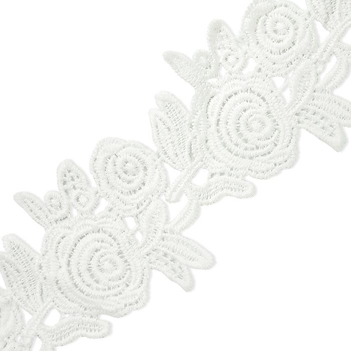 "Cassie 2-1/2"" Chain Of Roses Lace Trim IR8016-OffWhite"