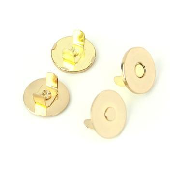"Thin Extra Strong Magnetic Snaps 1/2"" Gold 2pcs STS175G"