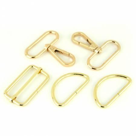 "Basic Hardware Set 1-1/2""  Gold"