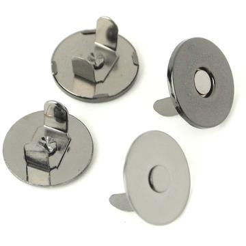 "Thin Extra Strong Magnetic Snaps 1/2"" Gunmetal 2pcs STS175B"