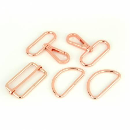 "Basic Hardware Set 1 -1/2"" Rose Gold"