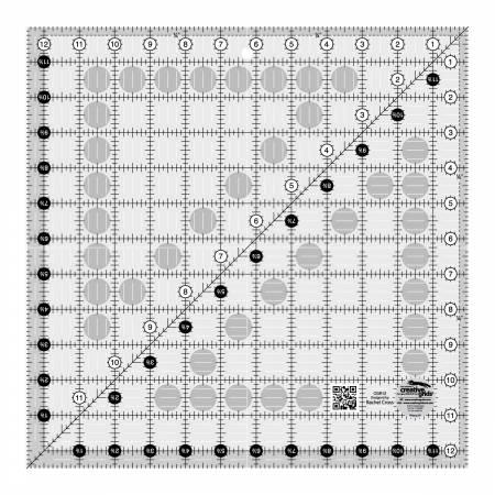 Creative Grids Quilt Ruler 12-1/2in Square - CGR12