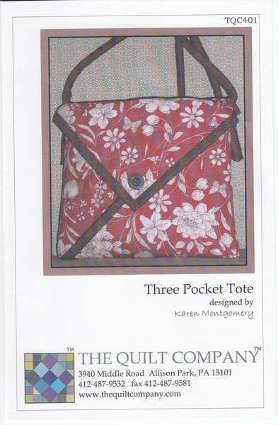 3 Pocket Tote Pattern - TQC401