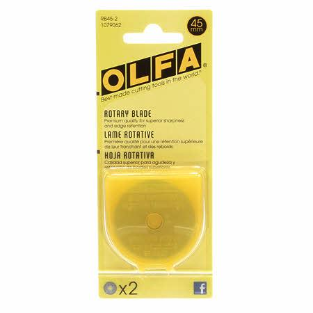 45mm Rotary Blade 2ct RB45-2 Olfa