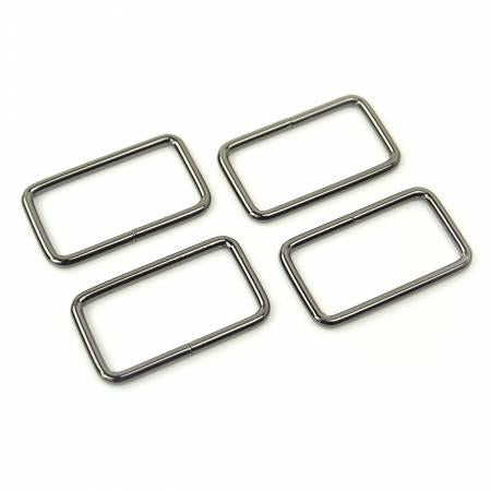 "4 Rectangle Rings 1.5""Gunmetal"