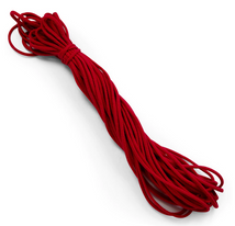 "1/8"" Soft Knit Elastic Cord 10yd Pk-Red EL106RD"
