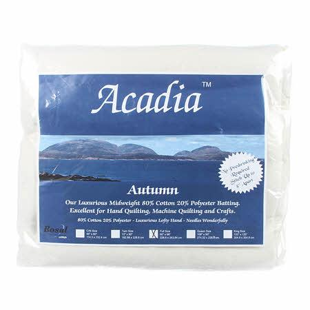 Acadia Premium 80% Cotton 20% Polyester Batting 4oz 90in x 96in - 387B-WHT