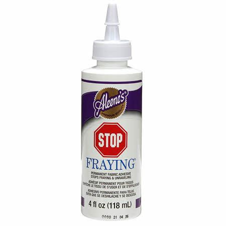 Aleene's Stop Fraying Glue 4oz Bottle - 262A