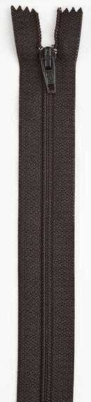 All-Purpose Polyester Coil Zipper 12in Cloister Brown