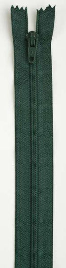 All-Purpose Polyester Coil Zipper 16in Forest Green